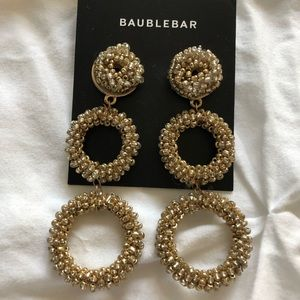 BaubleBar Jewelry - BaubleBar Gold Beaded Drop Earrings
